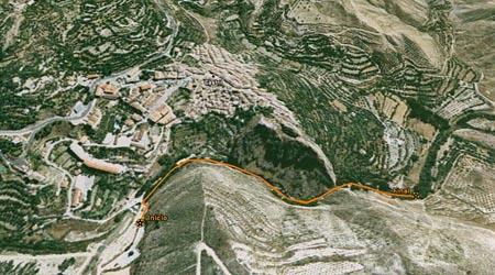 recorrido del sendero de la cerrada del rio Castril